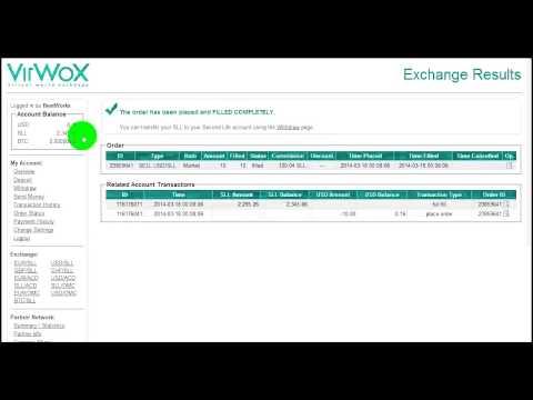 VirWox – Směnárna BitCoin