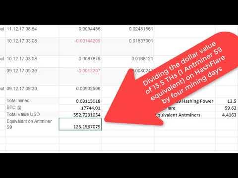 Bitcoin Cloud Mining Profitable ? Hashflare Vs Antminer S9-Hashflare  Cloud Mining Vs Antminer ?