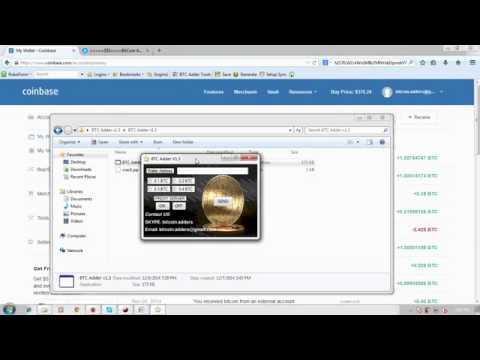 BitCoin Adder v1.3 ( Trusted 100% genuine software) - 7 December 2014
