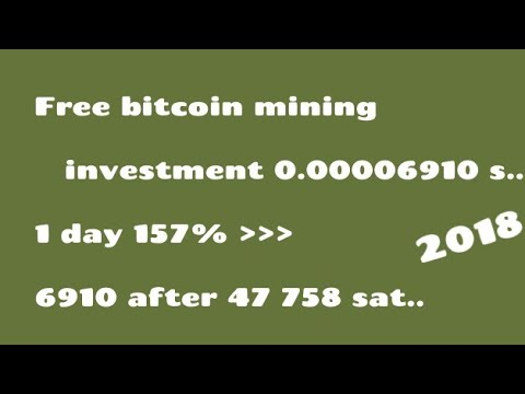 Free bitcoin mining || invest.. 0.00006910 sat.. || 1 day 157% new site mining btc