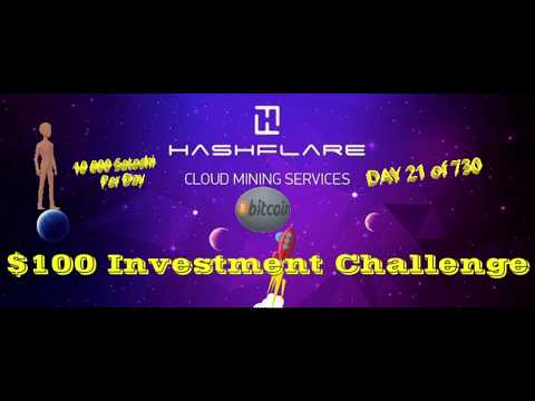 iS THE BiTCOIN MiNiNG CONTRACT ON HASHFLARE PROFiTABLE? | $100 CHALLENGE | DAY 21