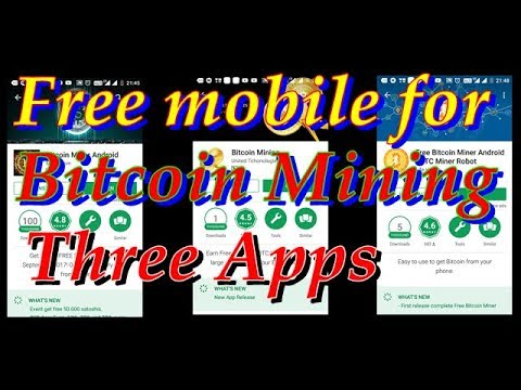 THREE APPLICATION //BITCOIN MINING // ANDROID MOBILE PHONE//FREE APPLICATION//NO INVESTMENT