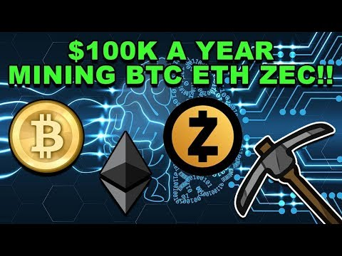 Earning $100K Mining Bitcoin Ethereum ZCash! - Mining BTC ETH ZEC - CryptoCurrency Mining