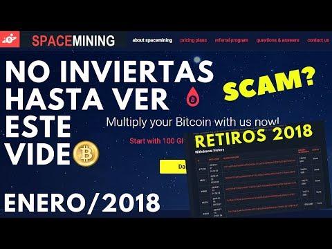 SPACE MINING SCAM? PRUEBA DE PAGO HOY 23/01/2018 | SCAM CONTROL- CLOUD MINING - BITCOIN