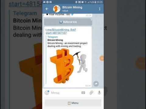 Telegram da Bitcoin mining nasil yapilir
