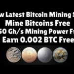 New Latest Bitcoin Mining Site | 150 Gh/s Mining Power Free | Earn 0.002 BTC Free