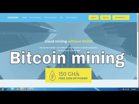Elderhash Free 150 Ghs Sign Up Bonus New Bitcoin Mining Site