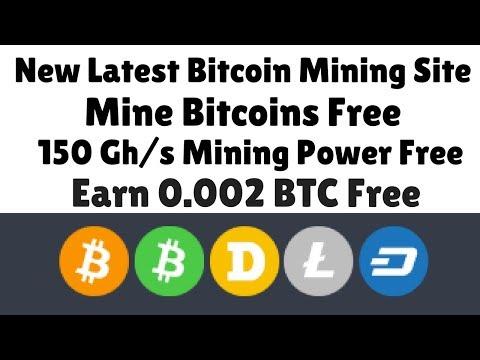 New Latest Bitcoin Mining Site | 150 Gh/s Mining Power Free | Earn 0.002 BTC Free | URDU HINDI