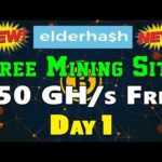 ElderHash Review – Free 150 GH/s on sign up | New Bitcoin Mining Site