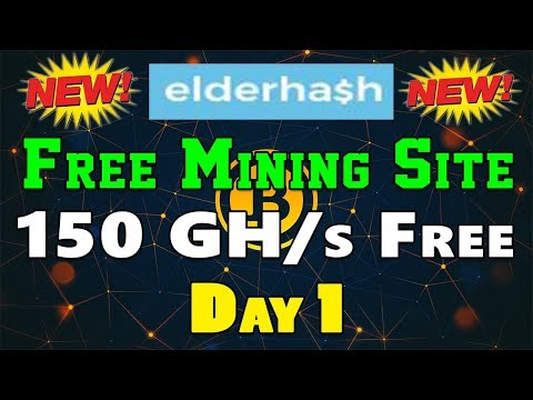 ElderHash Review - Free 150 GH/s on sign up | New Bitcoin Mining Site