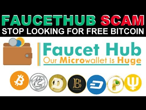 STOP LOOKING FOR FREE BITCOIN WARNING FAUCETHUB SCAM !!! PART 1
