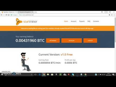 StartMiner (minería bitcoin). Condiciones para retirar. No es scam.