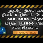 How To Earn Bitcoin in Tamil | Mellow Ads | Tamil Online jobs