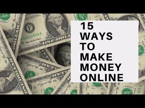 HOW TO MAKE MONEY ONLINE 15 WAYS