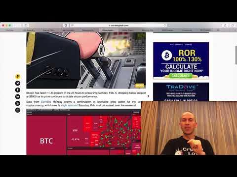 Crypto News   Feb 5 2018   Bitcoin Crash Today and Price Prediction
