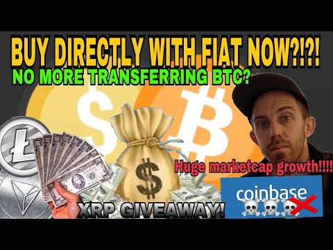 Popular Exchanges Now Using Fiat To Pay For Altcoins Directly Without Bitcoin!  - RIP COINBASE?