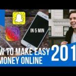 How To Make Easy Money Online In Under 5 Min In 2018