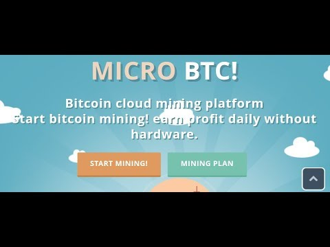 MICRO BTC Bitcoin cloud mining Free 100 GHS