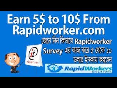 RapidWorkers Bangla Tutorial | Easy Way to Make Money Online for Beginners - Tech Bangla