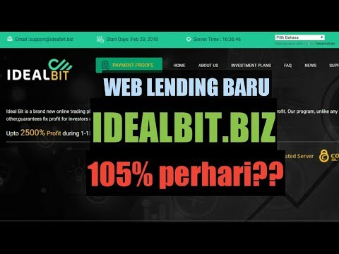 WEB LENDING BARU IDEALBIT.BIZ REVIEW SCAM ATAU LEGIT?? HYIP