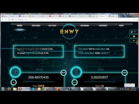 FREE BITCOIN MINING,FREE 100GH/S, REAL PAYOUT FROM THIS SITE, ENVY MINING