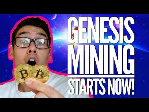 GENESIS MINING STARTS NOW! $100,000 Per Year Bitcoin Mining