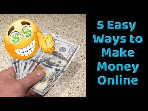 5 Easy Ways To Make Money Online in 2018