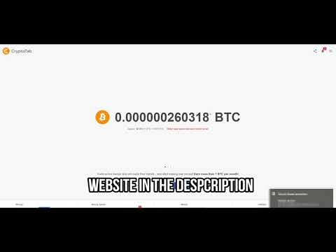 Bitcoin Mining CryptoTab 2018 Chrome