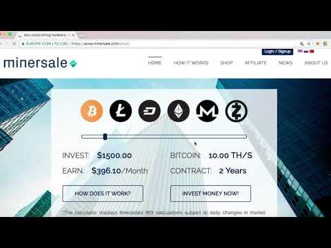 Minersale Bitcoin Mining Better Than Hashing24 And Hashflare || Bitcoin Mining Legit Site