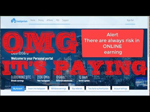 Hashperium & Hashter Is Not Scam    Hashperium Bitcoin Mining    4th Withdraw And Payment Proof !!!