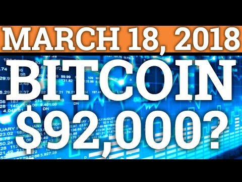 BITCOIN TO $92,000? POE REVIEW! CRYPTOCURRENCY MARKET CRASH + BTC NEWS + PREDICTIONS 2018!