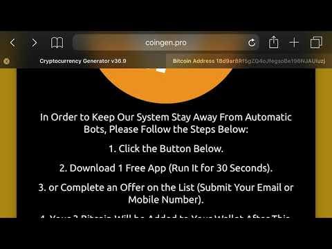 Free Bitcoin Generator - Scam?