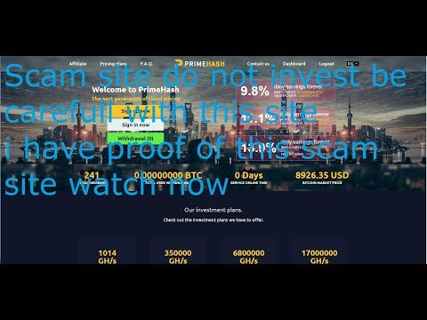 PrimeHash the new scam site please becarefull i have proof of scam