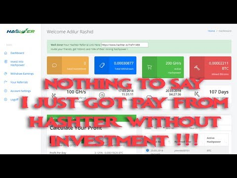 Hashter Payment Proof || Hashter Is Not Scam || Hashter Bitcoin Mining || Hashter Payment Proof!!!