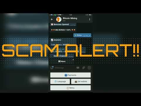 Bitcoin Mining bot Scam alert part 2
