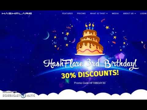 Hashflare 30% Discount! Bitcoin Cloud Mining Made Easy. Hashflare Start
