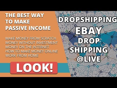 eBay Drop Shipping Live How To Make Money Online Dropshipping On eBay UK