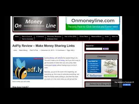 Adfly Review - Make Money Online Sharing Links - Onmoneyline.com
