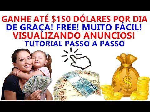 (SCAM! NÃO PAGA) GANHE ATÉ $150 DÓLARES POR DIA DE GRAÇA! VISUALIZANDO ANUNCIOS