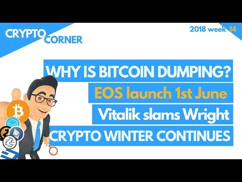 Why is Bitcoin dumping? Register EOS before 1June and other news.. pt2