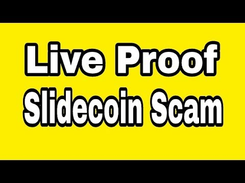 Live Proof Slidecoin Centicoin Wallet Scam 2018 $ Online Income Ak $