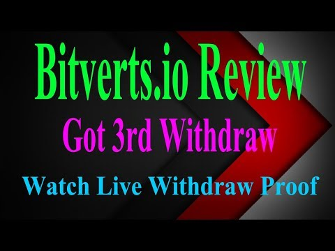Bitverts Review Legit Or Scam | How To Get Free Bitcoin With Watching PTC And Video Ads