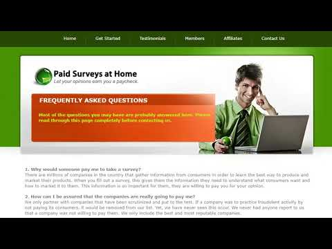 Make Money Online - Paid Surveys At Home.