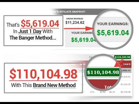 Make Money Online (600$ - 1000$ per day ) With The Banger Method Review + Bonuses