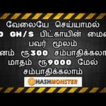 How to Earn Bitcoin | HashMonster | Cloud mining 300GH/S | in Tamil | Tamil Online Jobs