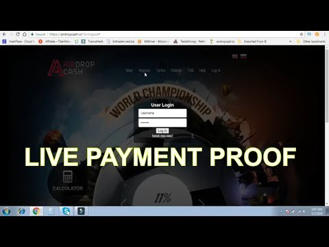 Airdrop cash new bitcoin cloud mining site live payment proof