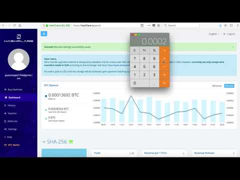 Hashflare Bitcoin Mining | How To Manually Reinvest