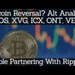 Crypto News | Bitcoin Reversal? Alt Analysis EOS, XVG, ICX, ONT, VEN. Apple Partnering With Ripple?