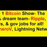 The 1 Bitcoin Show- The 80% dream team- Ripple, ICOs, & gov jobs for all!  MoneroV, Lightning