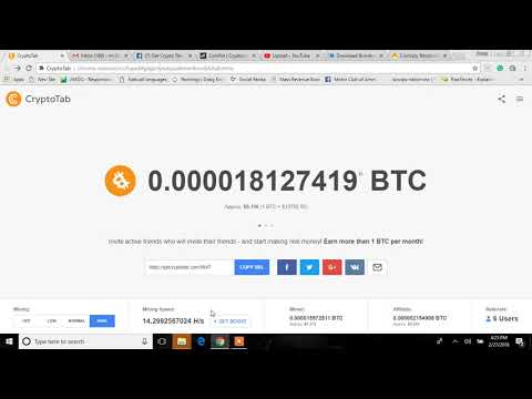 Get CryptoTab Review   Google Chrome Plugin   Mining Bitcoin 2018